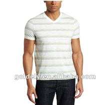 European style High quality branded fashion V neck t shirt
