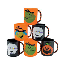 8 oz. 230ml Funny Drinking Cups with Handle Personalized Customized Wholesale Dollar Store Plastic Boo Bunch Halloween Mugs