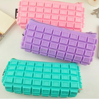 Promotion Gift Chocolate Silicone Pencil Pouch