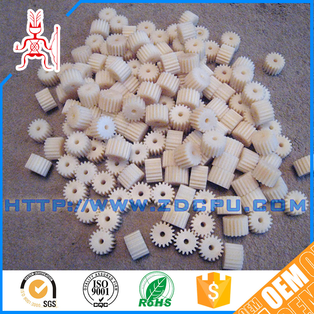Small tolerance easy installation low friction injection plastic gear wheels