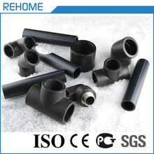 Water supply plastic polyethylene pipe black hdpe fittings pe100 sdr11