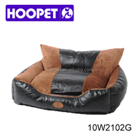 Pet products furniture dog beds with factory price PU leather bed