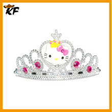 wholesale kitty lovely plastic Kids Princess Tiara