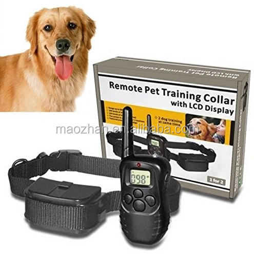 300M Remote Control Dog Training Collar Battery Pet Training Collar Electric Dog Train Shock Collar with LCD Display