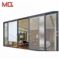exterior 4 panel aluminum sliding door