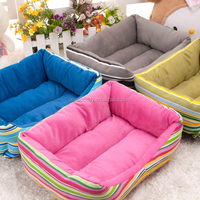2016 Best Selling Grass green striped Dog outdoor folding sofa cover bed with cushion