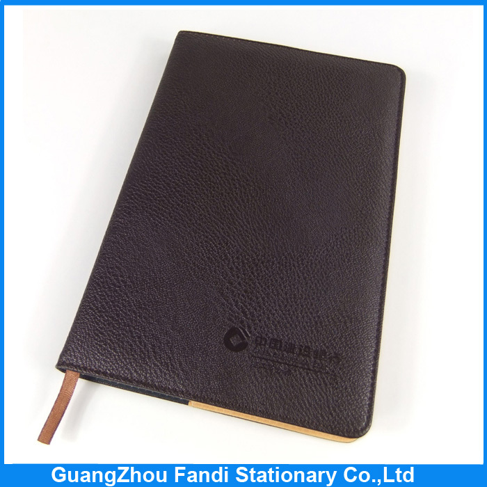 2017 custom school diary cover notebook design with leather cover