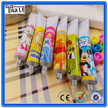 Cute plastic full color printing school children toothpaste pen, poromotional gift class plastic stationery ballpoint pen