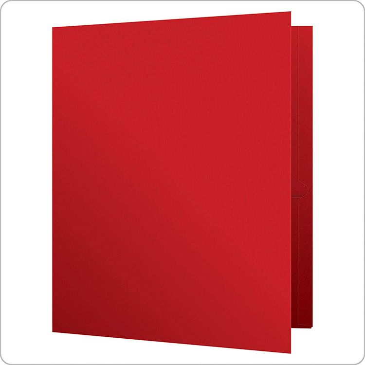 A4 Size Pocket Printed Custom High Quality  Presentation Folders With Business Card Slot