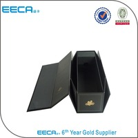 Foldable rigid paper wine gift box/bottle box made in China