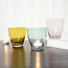 Hot Selling New Arrival Colored Glass Unique Candle Jars Candlestick HolderHLT-0103