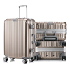 high quality abs travelling luggage set