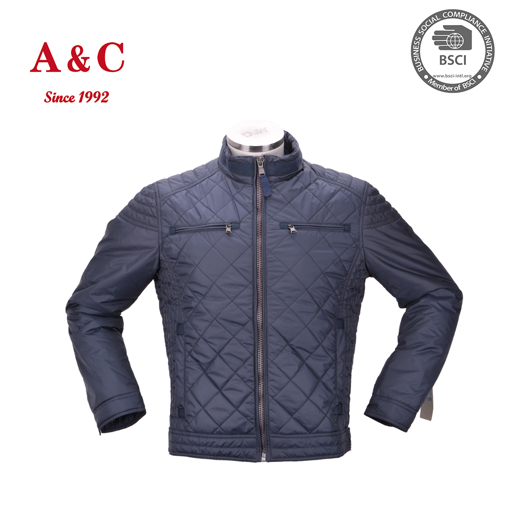 Very Cheap Wholesale Custom Mens Quilted Full Zip Bomber Jacket
