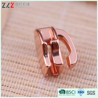 5# Rose gold nylon zipper slider Eco-Friendly Non-lock head for bags