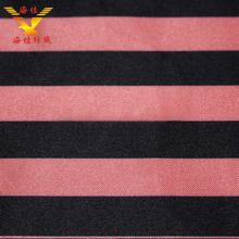 Elegant two-tone thick stripe polyester satin fabric for hometextile