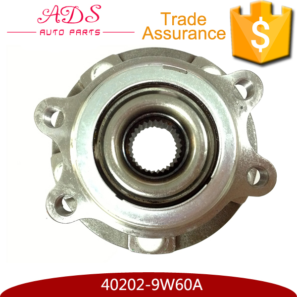 Original high quality large stock auto front wheel bearing hub for Japanese car OEM:40202-9W60A