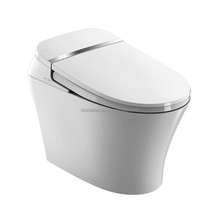 Modern Bathroom One piece Ceramic Intelligent Toilet, Elegant and Smart Toilet