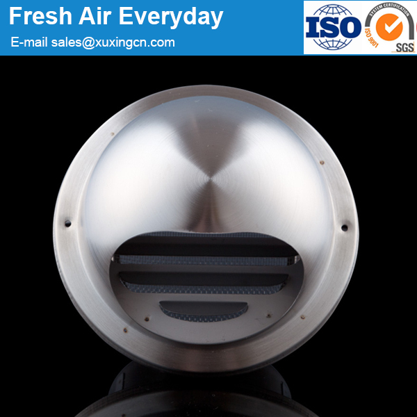 high quality stainless steel round wall air vent cap with screen vent