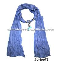2012 Latest Polyster Scarf With Pendant