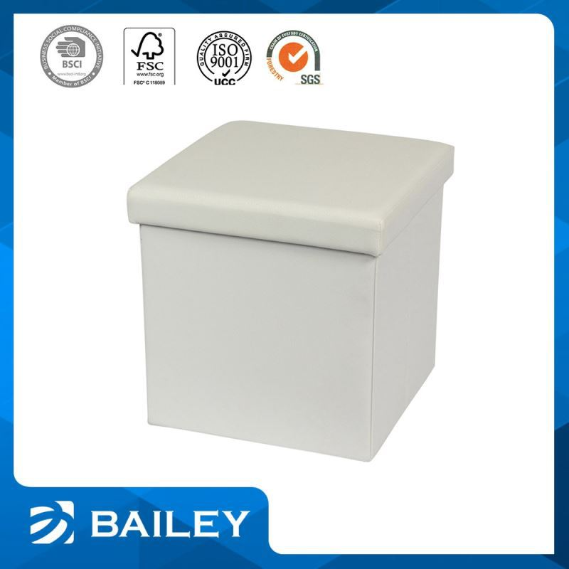 Modern Style Collapsible Folded Storage Ottoman Seating Box