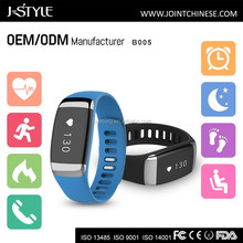 J-style BLE4.0 Vibration Call&MSG Reminder Heart Rate Monitor 3d sensor pedometer bluetooth