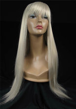 High density factory wholesale high quality long white lace front wig