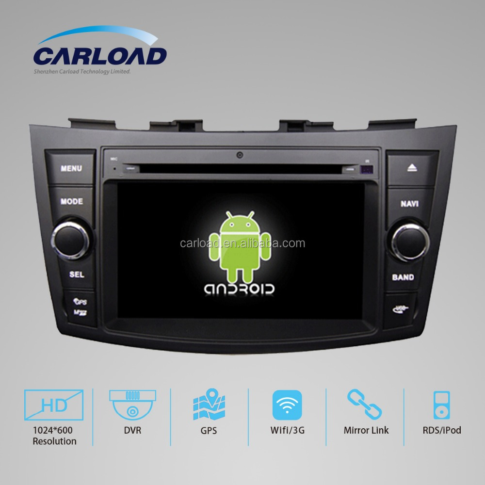 android 5.1 7 inch capacitance touch screen 2 din car dvd player for SUZUKI SWIFT