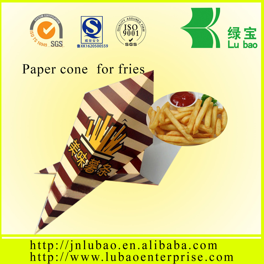 fried food container&paper cone or bag for fries