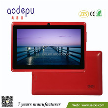 New model for zxs-7-Q88 7 inch Allwinner A23 512MB/1GB 1024*600 android touch panel tablet pc with wifi