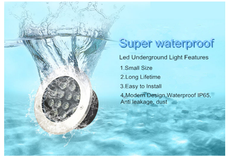 12x2w IP68 RGB/R/G/B/W/Yellow Led underwater spotlight