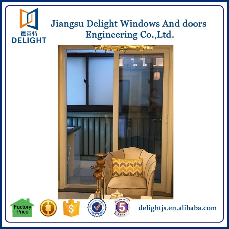 Security lamanated glass sliding front doors for sale