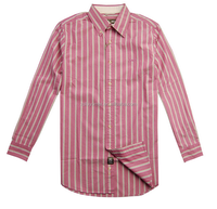 stripe shirt business shirt 2015 latest fashion design Italian style wholesale high quality 100%cotton button down collar casual