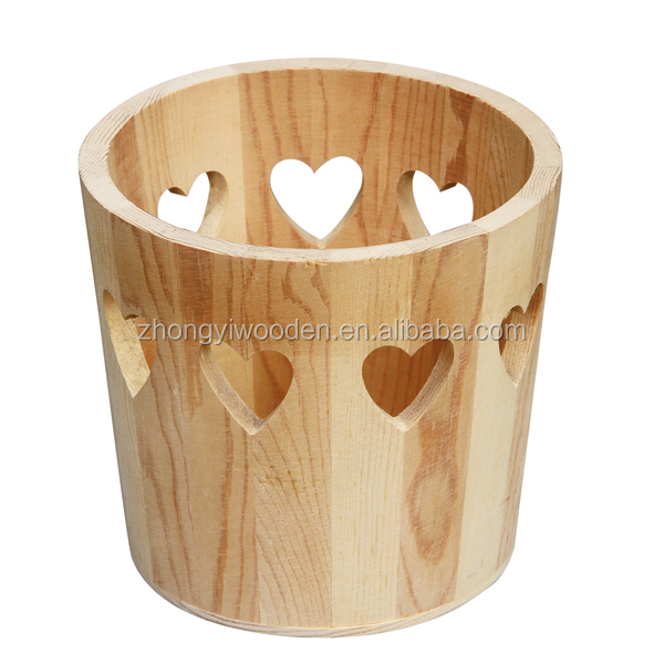Office stationery sets storage organizer wooden pen holder container