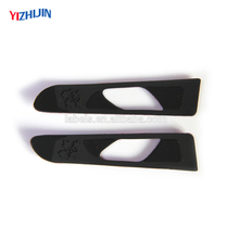Raised logo pvc rubber material hook and loop sleeve tab for jacket cuff