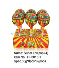 Hot Sale 11 CM Plastic Lollipop with 10g lollipop Candy with Toy
