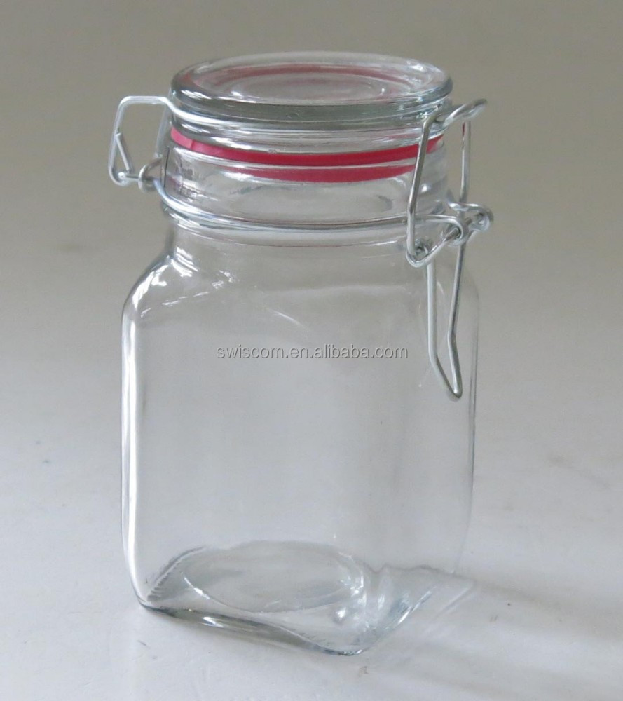 glass jar with metal clip SP016-B1, C1, E1, F1