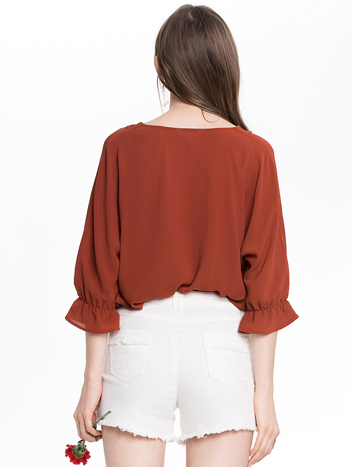 Ladies Top Fashion Plain Blouse