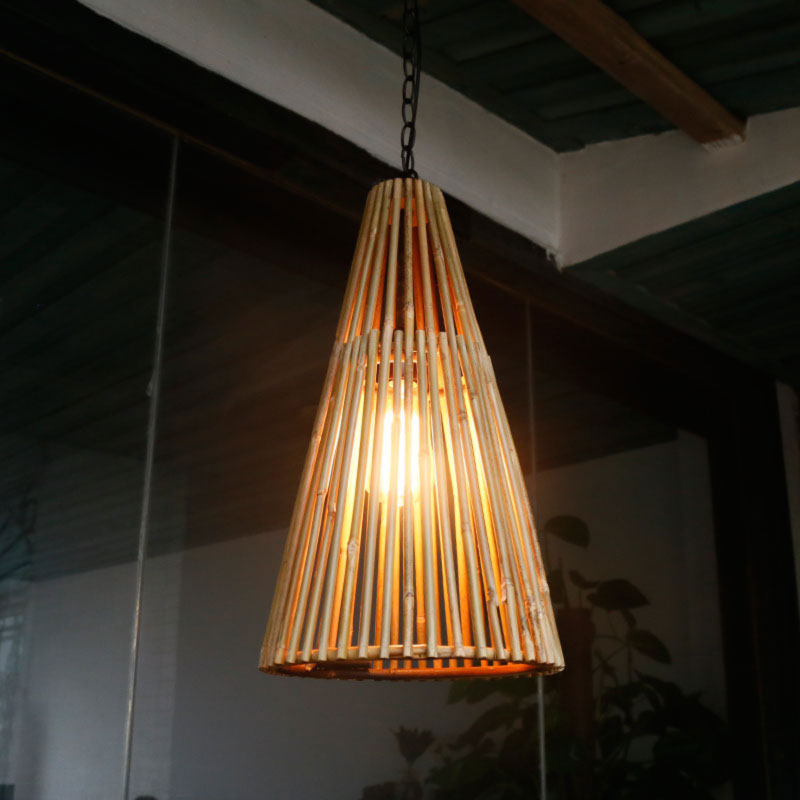 Ball Shape Black Hemp Rope Vintage Lights Ceiling Mounted japanese pendant lamp