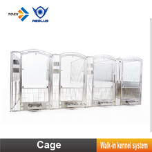 Newest Professional Walk-in dog Kennel Panel Stainless Steel Dog Run Kennels Crate