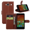 Hot selling leather case for XiaoMi RedMi 2 Leather Mobile phone flip cover case for XiaoMi RedMi 2