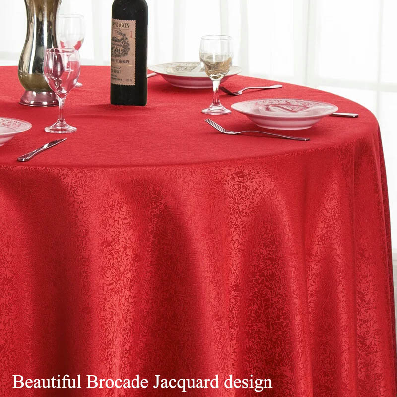 1PC High Quality Luxurious Round Table Covers Rectangular Table Cloth Hotel Table Linen Wedding Decoration Outdoor Tablecloth