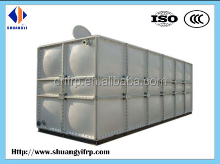 2 partions FRP/GRP water tank for drinking water storage on the roof of the building