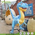 Fiberglass Cartoon Statue Dinosaur King for Amusement Park