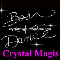 born to dance stick on rhinestone letters for dresses