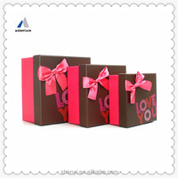 Mountain small items red and black packaging gift box from china manufacturer