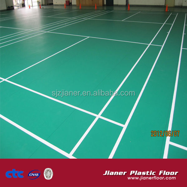 Malaysia Sports PVC synthetic badminton court flooring