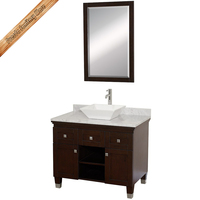 Mini classic hotel bathroom vanity with italy marble top