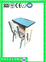 modern school desk and chair school furniture school desk with bench HXZY057