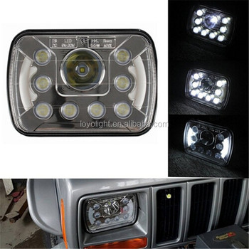 Ractangle 7inch car led headlights 5x7 high low beam accessories headlight