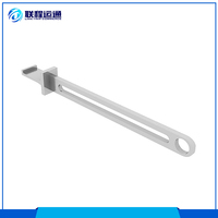 Multi use aluminum alloy side hanging support arm metal display shelf